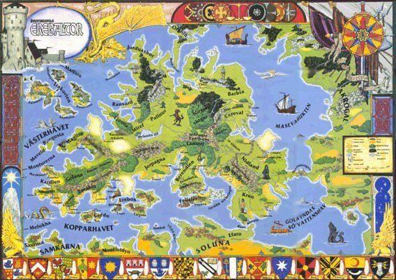 Karta över Ereb Altor