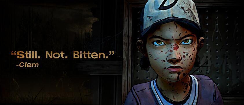 Clem från The Walking Dead syr ihop sig själv med nål och tråd. Hon är betydligt hårdare än Robert - och kan nog spela vad som helst om hon är sjuk.